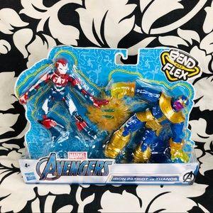 Marvel Avengers Bend & Flex Iron Patriot vs Thanos
